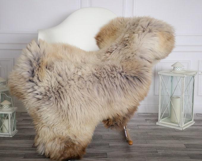 Sheepskin Rug | Real Sheepskin Rug | Shaggy Rug | Sheepskin Throw | Sheepskin Rug Beige Brown | Home Decor | #HERMAJ92