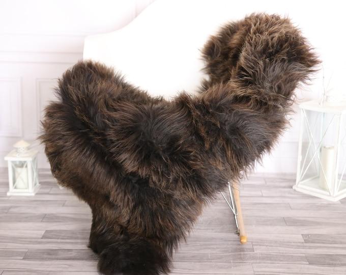 Sheepskin Rug | Real Sheepskin Rug | Shaggy Rug | Scandinavian Rug | | SCANDINAVIAN DECOR | Black Brown Sheepskin #OLHER3