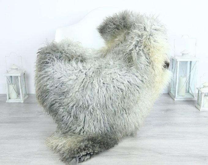 Genuine Rare Gotland Sheepskin Rug - Curly Fur Rug - Natural Sheepskin - Gray Sheepskin #GOTKW19