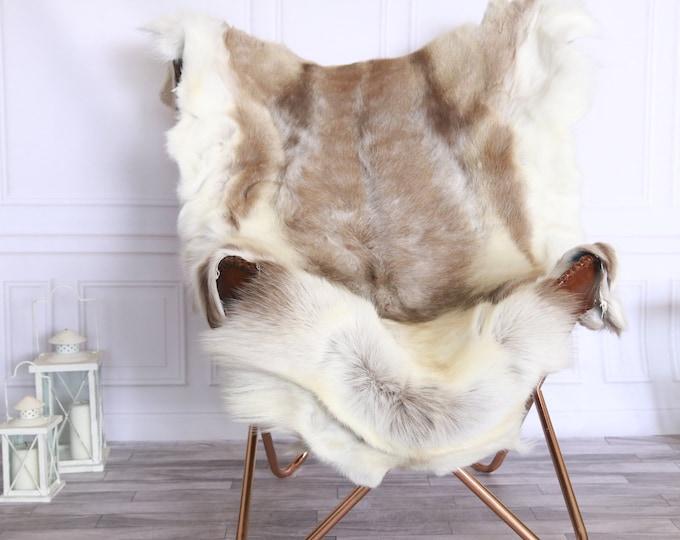 Reindeer Hide | Reindeer Rug | Reindeer Skin | Throw XL LARGE - Scandinavian Style #FRE10