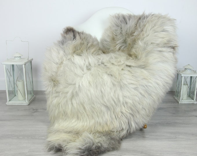 Sheepskin Rug | Huge Real Sheepskin Rug | Shaggy Rug | Chair Cover | XXL Sheepskin Throw | Gray Brown Sheepskin | Home Decor | #PRYMHER16