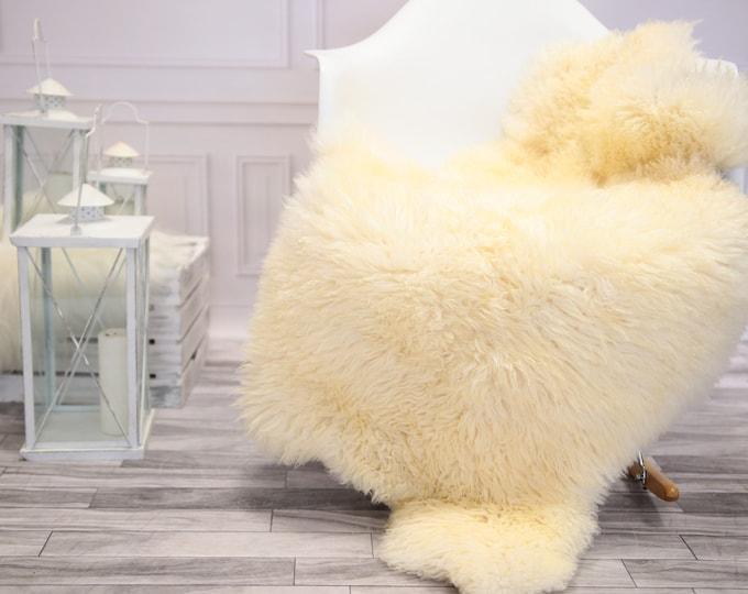 Genuine Rare Gotland Sheepskin Rug - Curly Fur Rug - Natural Sheepskin - Ivory Sheepskin #DECGOT16
