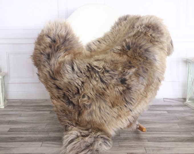 Sheepskin Rug | Real Sheepskin Rug | Shaggy Rug | Sheepskin Throw | Sheepskin Rug Brown Gray | Chirtmas Home Decor | #1HER25
