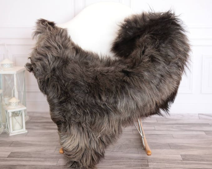 Organic Sheepskin Rug, Real Sheepskin Rug, Gute Sheepskin, Gray Brown Sheepskin Rug #GUTEFEB10