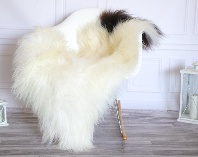 Icelandic Sheepskin   Real Sheepskin Rug    Super Large Sheepskin Rug Beige Black   Fur Rug   Homedecor #KOWISL25