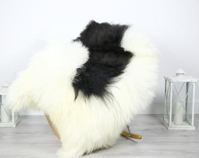 Icelandic Sheepskin   Real Sheepskin Rug   Sheepskin Rug Black White   Fur Rug   Homedecor #3Isl15
