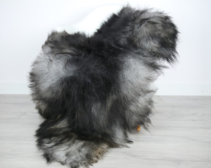 Icelandic Sheepskin | Real Sheepskin Rug | | Large Sheepskin Rug Gray | Fur Rug | Homedecor | Sheepskin Throw | Long fur #colisl40
