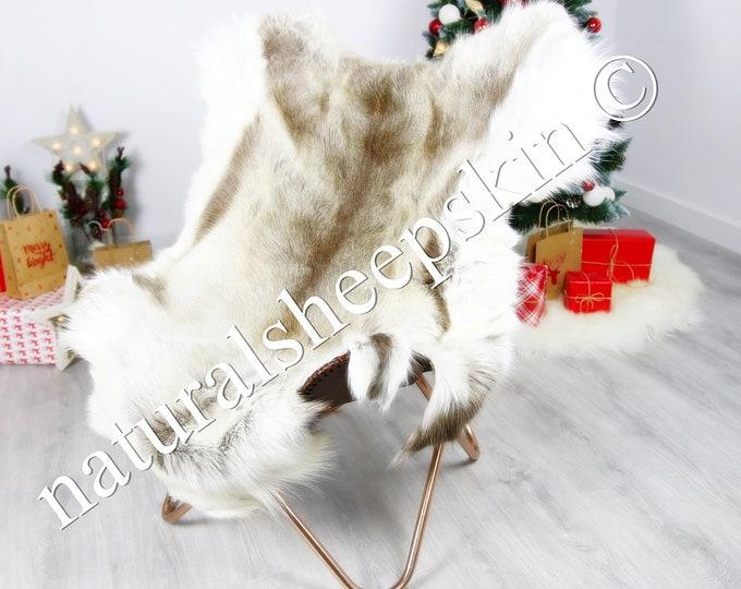 Reindeer Hide | Reindeer Rug | Reindeer Skin | Throw  - Scandinavian Style #DRE3 140X 110cm