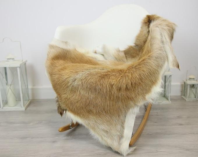 Natural real Goatskin rug, Goat Hide Goat Rug Sand color  #Goat28