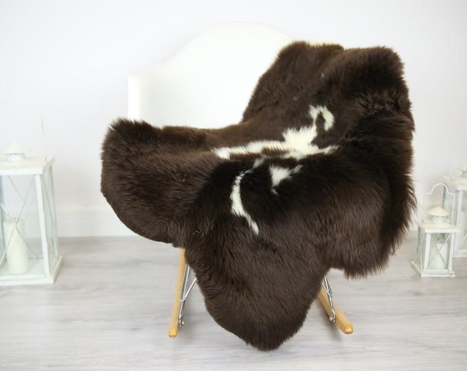 Sheepskin Rug | Real Sheepskin Rug | Shaggy Rug | Chair Cover | Sheepskin Throw | Brown Sheepskin | Home Decor | Spotted Sheepskin #JAC10