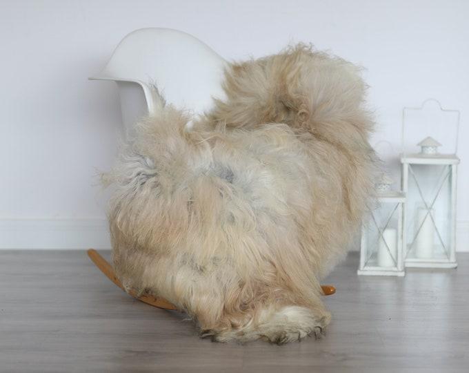 Real Icelandic Sheepskin Rug Scandinavian Decor Sofa Sheepskin throw Chair Cover Natural Sheep Skin Rugs Gray Blanket Fur Rug #4isl26