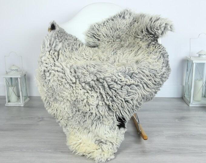 Organic Curly Sheepskin Rug, Real Sheepskin Rug, Gute Sheepskin, Gray Baige Sheepskin Rug #GOTKW9