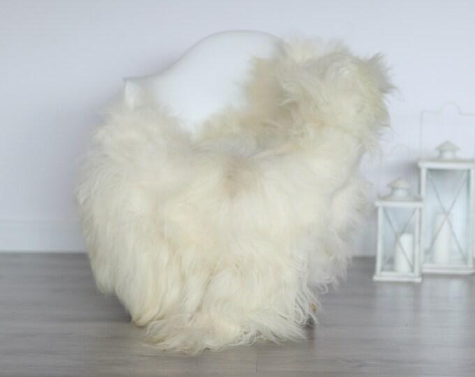 Real Icelandic Sheepskin Rug Scandinavian Decor Sofa Sheepskin throw Chair Cover Natural Sheep Skin Rugs Ivory Blanket Fur Rug #4isl27