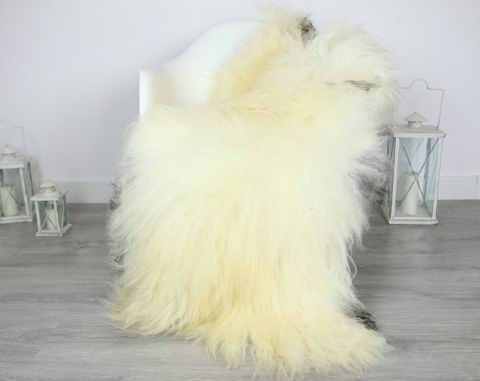 Icelandic Sheepskin | Real Sheepskin Rug | | Large Sheepskin Rug Ivory | Fur Rug | Homedecor | Sheepskin Throw | Long fur #colisl13