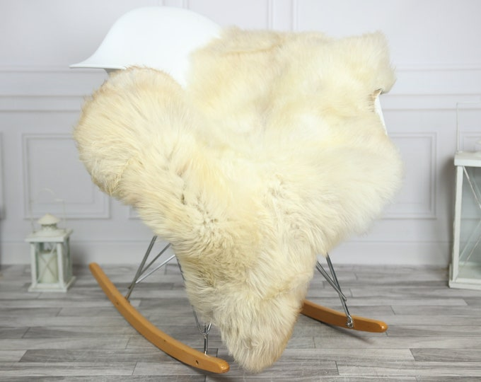 Sheepskin Rug | Real Sheepskin Rug | Shaggy Rug | Chair Cover | Sheepskin Throw | Ivory Sheepskin | CHRISTMAS DECOR | #2HER9