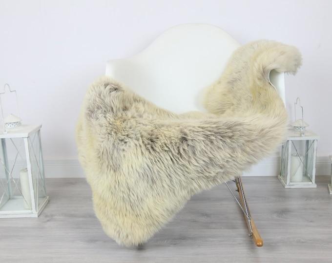 Sheepskin Rug | Real Sheepskin Rug | Shaggy Rug | Scandinavian Rug | Sheepskin Throw Beige Gray Sheepskin | SCANDINAVIAN DECOR | #5HER34