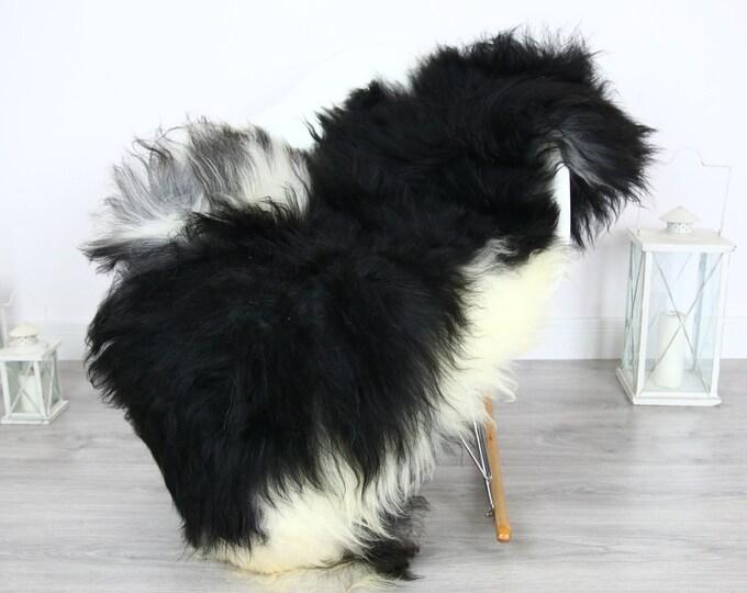 Icelandic Sheepskin | Real Sheepskin Rug | | Large Sheepskin Rug Black | Fur Rug | Homedecor | Sheepskin Throw | Long fur #colisl7