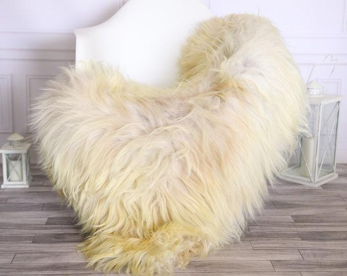 Icelandic Sheepskin | Real Sheepskin Rug |  Super Large Sheepskin Rug Blonde Ivory | Fur Rug | Homedecor #MIHISL5