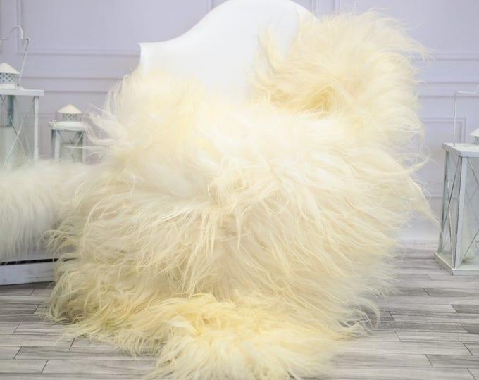 Icelandic Sheepskin | Real Sheepskin Rug | Ivory Sheepskin Rug | Fur Rug |  Home decor #JANISL27