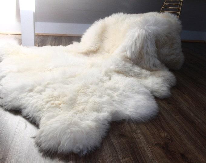 Genuine Natural creamy white Sheepskin Rug Pelt Giant Sheepskin throw Sexto Real Sheepskin Rug Scandinavian Decor Sofa Sheep Skin Rugs