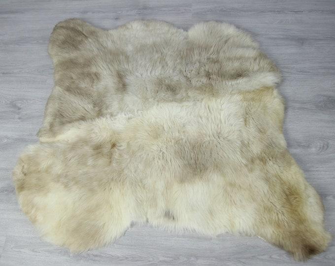 Double Sheepskin Rug | Long rug | Shaggy Rug | Chair Cover | Runner Rug | Beige Rug | Carpet | Beige Sheepskin | Brown Sheepskin LUSZY8