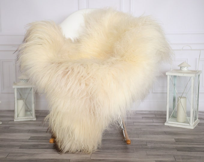 Icelandic Sheepskin | Real Sheepskin Rug |  Sheepskin Rug Ivory | Fur Rug | Homedecor #APRISl37