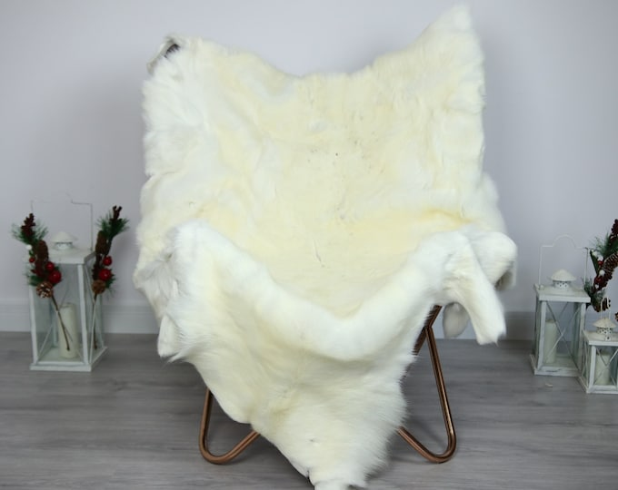 Reindeer Hide | Reindeer Rug | Reindeer Skin | Throw  - Scandinavian Style #ERE22 150x115 | Christmas Decor |