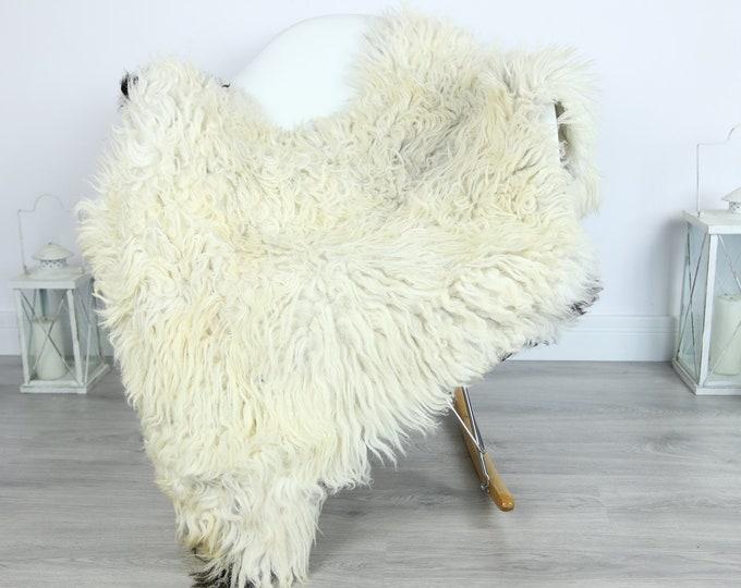 Organic Curly Sheepskin Rug, Real Sheepskin Rug, Gute Sheepskin, Black Baige Sheepskin Rug #GOTKW8