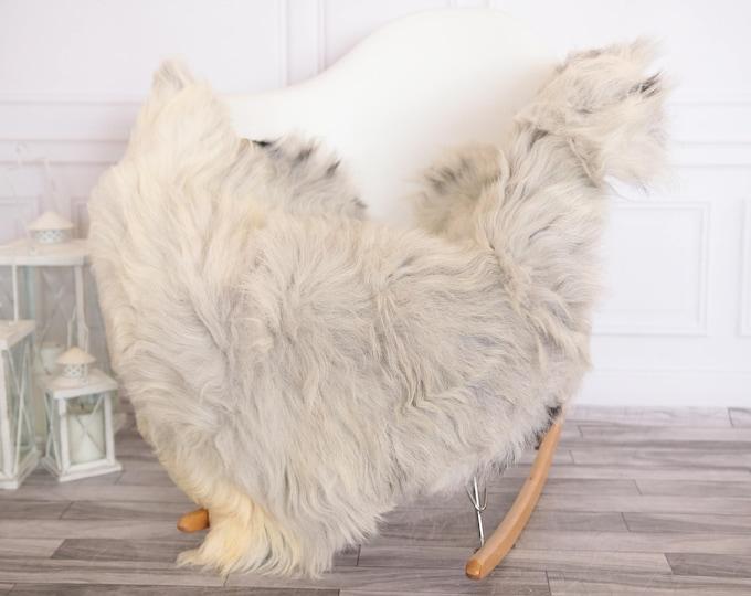 Organic Sheepskin Rug, Real Sheepskin Rug, Gute Sheepskin, Gray Ivory Sheepskin Rug #GUTEFEB8