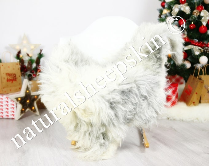Organic Sheepskin Rug, Real Sheepskin Rug, Gute Sheepskin, Brown Sheepskin Rug Christmas Home #GUTCHRIS6