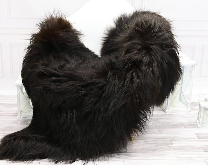 Icelandic Sheepskin   Real Sheepskin Rug   Chocolate Brown Sheepskin Rug   Fur Rug   #islsept14