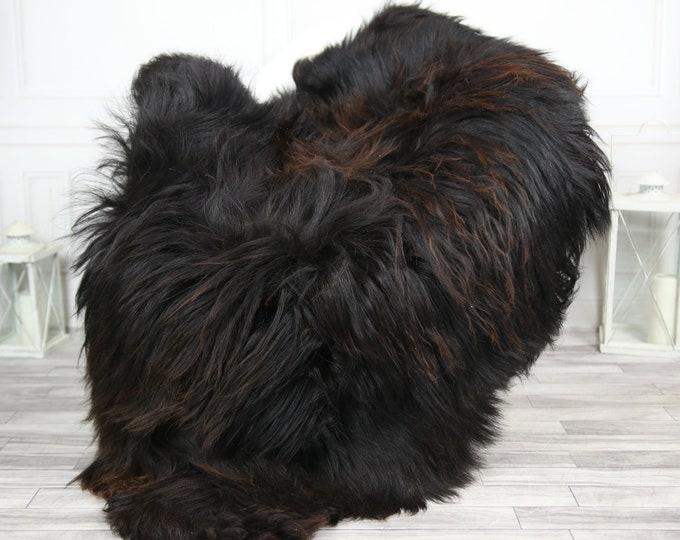 Icelandic Sheepskin | Real Sheepskin Rug | CHRISTMAS DECOR | Sheepskin Rug Chocolate | Fur Rug | Homedecor #2ISL38