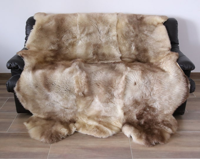 Beige Sheepskin Rug | Super Large Sheepskin Rug | Sexto Sheepskin Rug | Sheepskin Throw