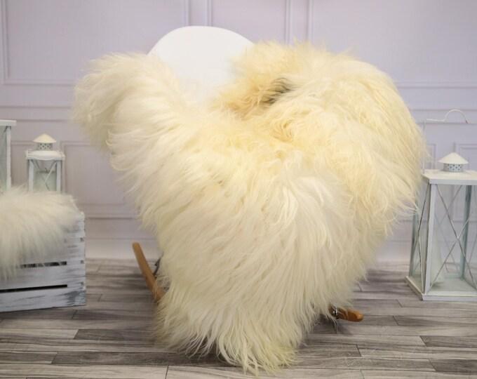 Icelandic Sheepskin | Real Sheepskin Rug | Ivory Sheepskin Rug | Fur Rug |  Home decor #JANISL13