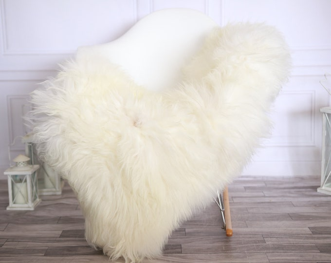 Icelandic Sheepskin | Real Sheepskin Rug | Ivory Sheepskin Rug | Fur Rug |Scandinavian dedcor | #ISLSKL35