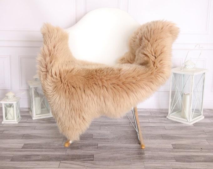 Sheepskin Rug | Real Sheepskin Rug | Shaggy Rug | Scandinavian Rug | | SCANDINAVIAN DECOR | Champagne Sheepskin #OLHER2