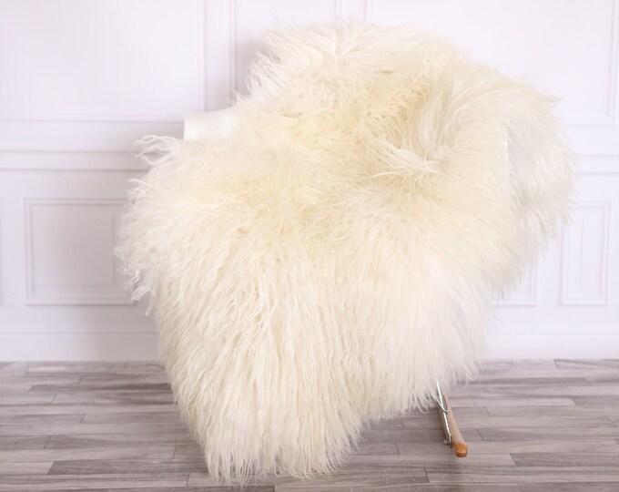 Sheepskin Rug Genuine | Curly Sheepskin Rug | Curly Iceland Sheepskin | Ivory Sheepskin | Sheepskin Throw | Sheepskin Pelt | CURLY16