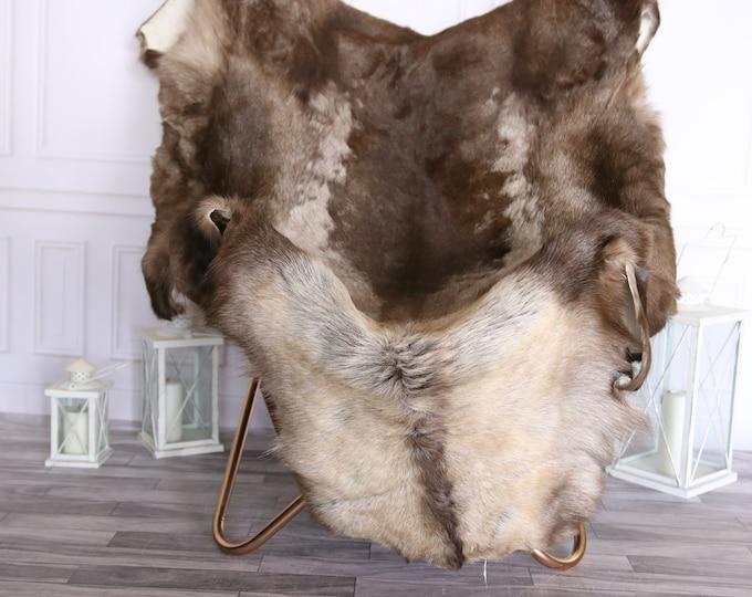 Reindeer Hide | Reindeer Rug | Reindeer Skin | Throw Large  - XXXL GIANT Scandinavian Style #BRE1