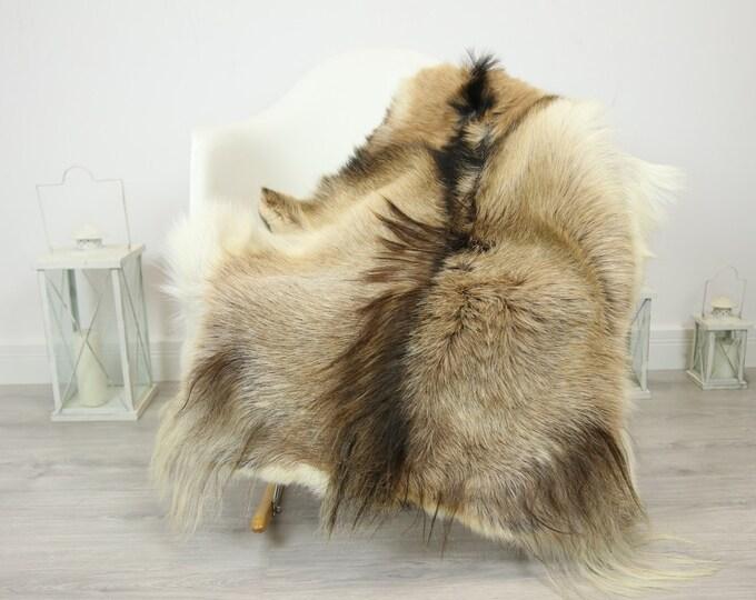Natural real Goatskin rug, Goat Hide Goat Rug Beige Brown #Goat25