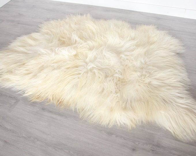 Real Icelandic Sheepskin Throw Scandinavian Decor Sofa Sheepskin throw Chair Cover Natural Sheep Skin Rugs Blanket Fur Triple Rugs #Bezszy2
