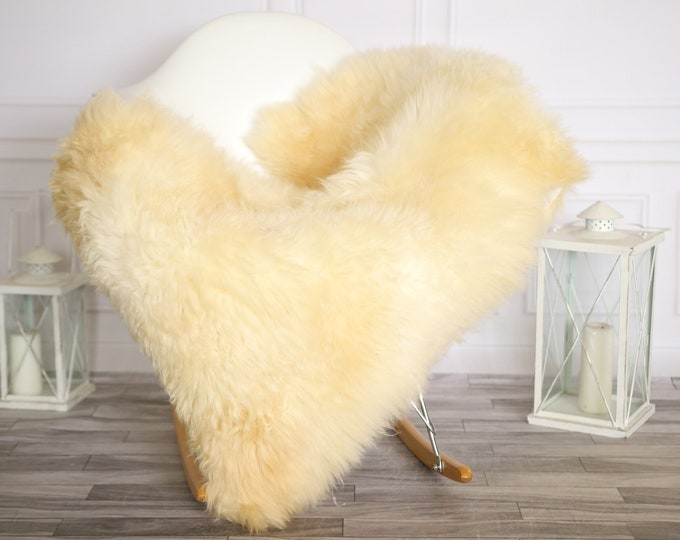 Sheepskin Rug | Real Sheepskin Rug | Shaggy Rug | Chair Cover | Sheepskin Throw | Beige Sheepskin | Home Decor | #HERMAJ33