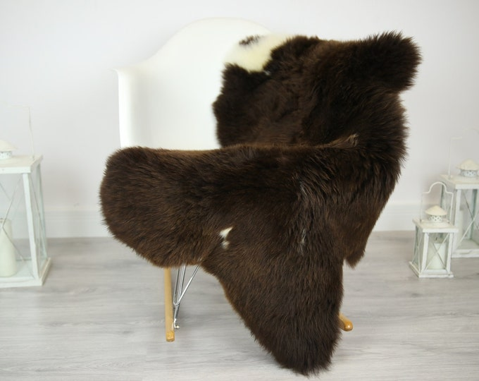 Sheepskin Rug   Real Sheepskin Rug   Shaggy Rug   Chair Cover   Sheepskin Throw   Brown Sheepskin   Home Decor   #JAC16