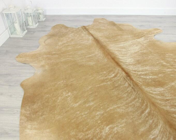 Premium Quality Giant XXXL Cowhide | Real Cowhide Rug | Sand Cowhide | #COW5