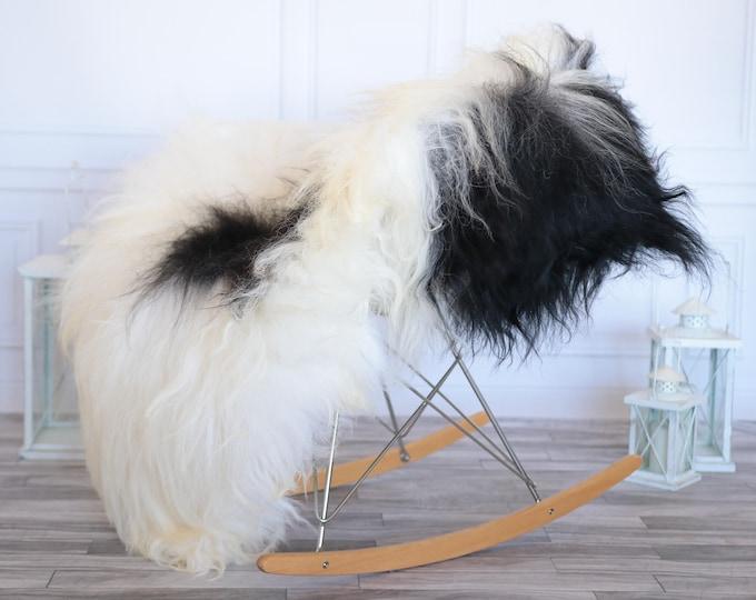 Icelandic Sheepskin | Real Sheepskin Rug | Ivory Black Sheepskin Rug | Fur Rug | Christmas Decorations #ISLA13