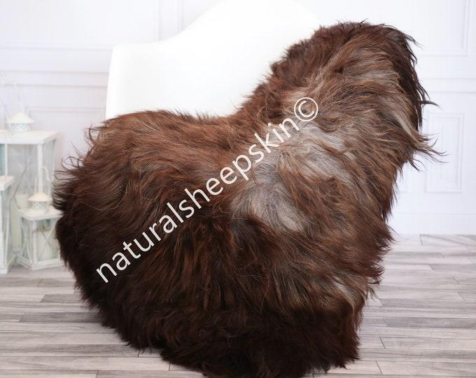 Icelandic Sheepskin | Real Sheepskin Rug | Brown Gray Sheepskin Rug | Fur Rug | Homedecor #febisl21
