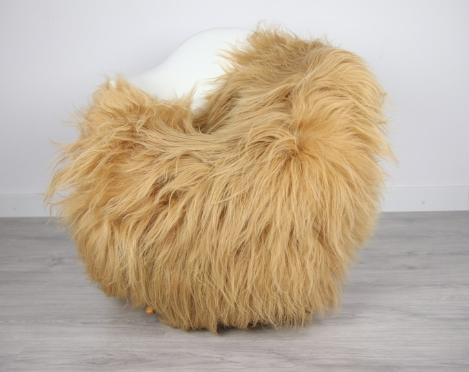 Icelandic Sheepskin | Real Sheepskin Rug | | Large Sheepskin Rug Blonde | Fur Rug | Homedecor | Sheepskin Throw | Long fur #colisl23