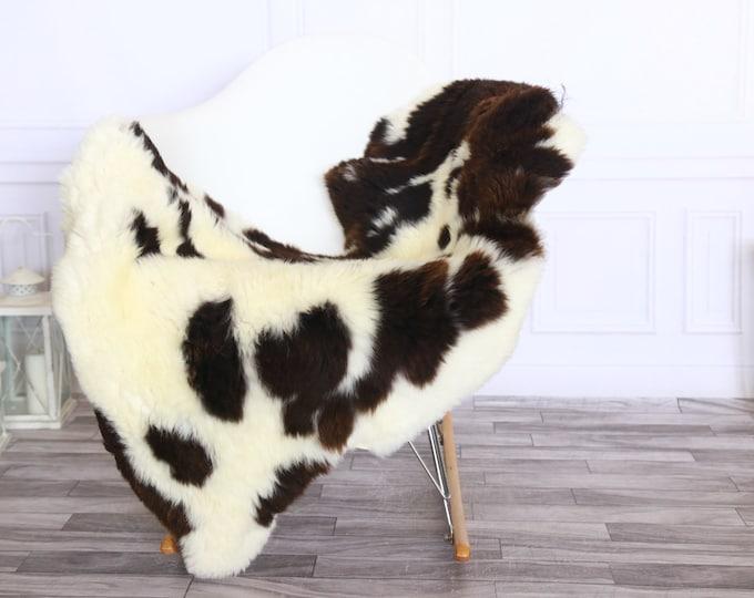 Sheepskin Rug | Real Sheepskin Rug | Shaggy Rug | Sheepskin Throw | Sheepskin Rug Brown White | Chirtmas Home Decor | #1HER62