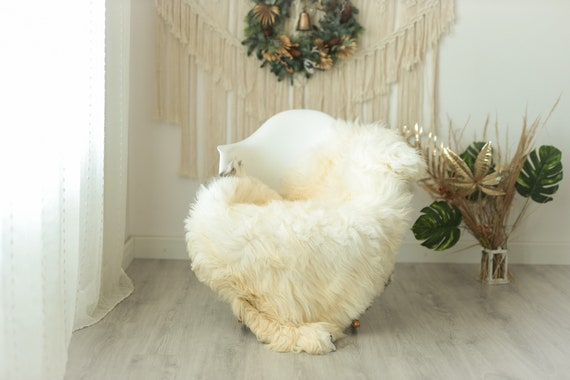 Real Sheepskin Rug Shaggy Rug Chair Cover Sheepskin Throw Sheep Skin Gray Ivory Sheepskin Home Decor Rugs #Gut17
