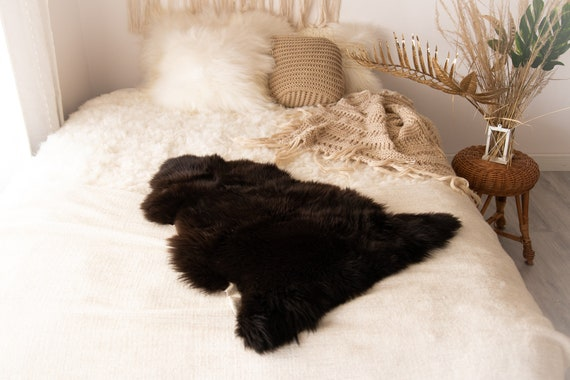 Real Sheepskin Rug Shaggy Rug Chair Cover Sheepskin Throw Sheep Skin Brown Sheepskin Scandinavian Home Decor Rugs #Nuher8