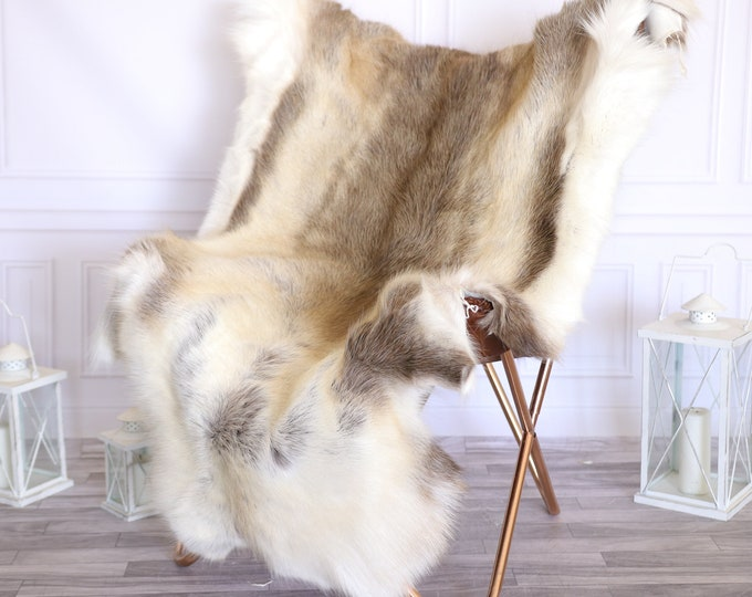 Reindeer Hide | Reindeer Rug | Reindeer Skin | Throw Large  -XXL EXTRA LARGE Scandinavian Style #22RE25